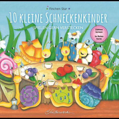 10 kleine Schneckenkinder spielen gern Verstecken